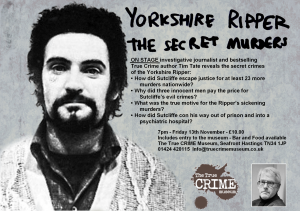 Yorkshire Ripper - The Secret Murders flyer